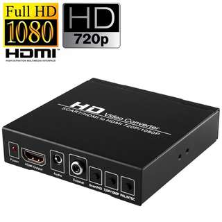 Brand New! HDV Full HD 1080P SCART to HDMI Video Converter & Upscaler - $25