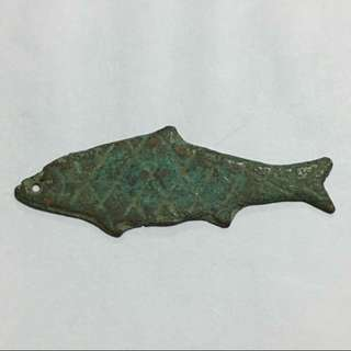 30% OFF GREAT CNY SALE {Collectible Item - Antuque Coin} Chinese Ancient Money Coastal Ethnic Minorities Coin Bronze Fish Shape Currency 魚銅幣
