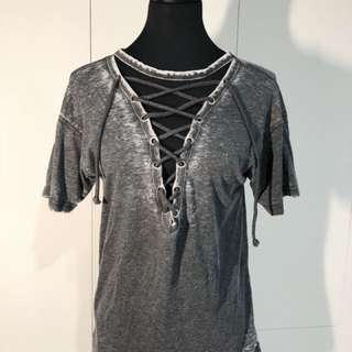 Lace Up T-Shirt