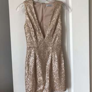 Tobi gold sequinned minidress