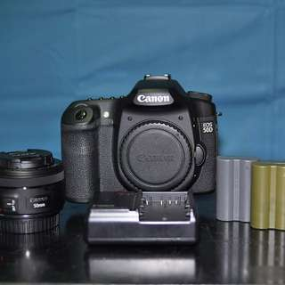 Canon EOS 50D + 50mm f1.8