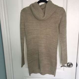 Turtleneck long sweater
