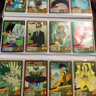 龍珠閃卡,暗閃90~95%新,91年~95年版,日本版,已開,請出價