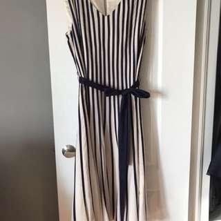 Jacques Vert purple/cream dress