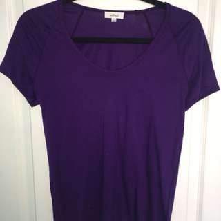 Aritzia wilfred purple shirt