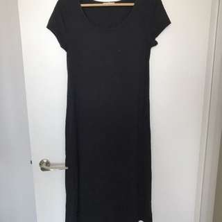 Black spring summer casual dress