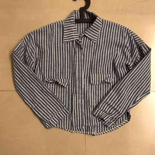 藍白線條襯衫