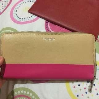 Coach nude pink wallet
