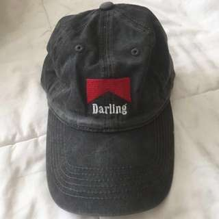 Brandy Melville wash grey Katherine Darling baseball cap