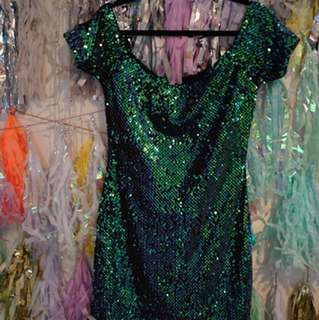 Emerald Green mermaid sequin dress