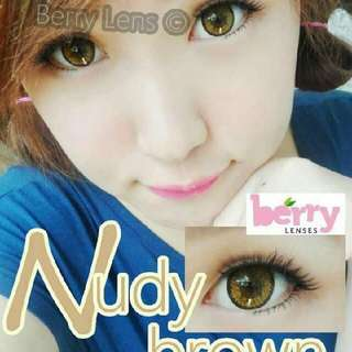🍒Berry Contact Lens NUDY BROWN 👀