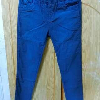 彈性伸縮藍長褲