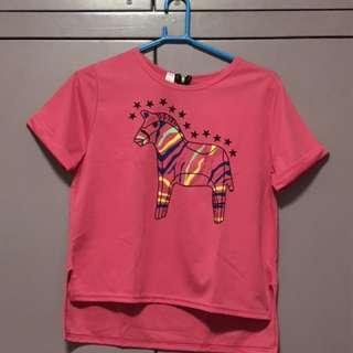 Pink Zebra Top