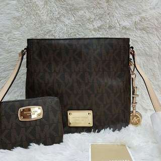 Authentic MK Bag and Wallet