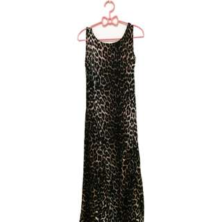 Animal Printed Long Dress