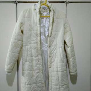 White Bubble Trench Coat
