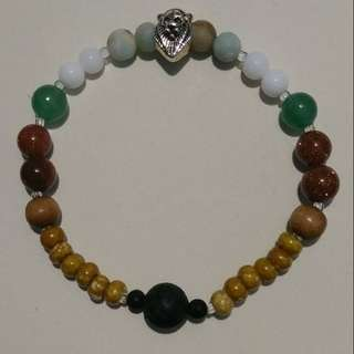 Green Jade Essential Oil Bracelet