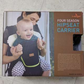 Nearly new i-Angel hipseat baby carrier