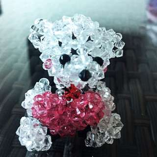 Handmade Beaded Valentine Teddy