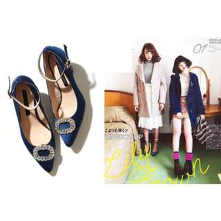 (🇯🇵私物出清)日系日牌Lily Brown御姐必備修飾顯腿長水鑽鞋 used 三件免運