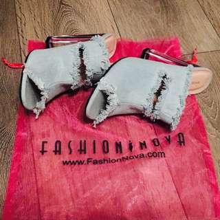 Fashion Nova Light Jean Heel