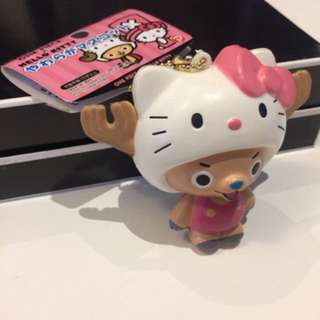 Authentic Licensed Hello Kitty X One Piece Chopper Squishy