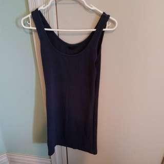 Topshop long navy vest - size 6