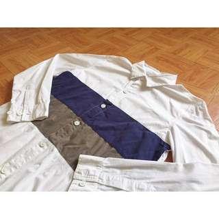 🚚 Radical 拼接撞色白襯衫