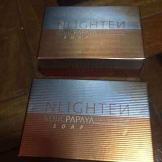 Nlighten Kojic Papaya soap with glutathione