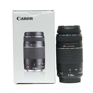 Canon EF 75-300mm f4-5.6 III Lens (Boxset)