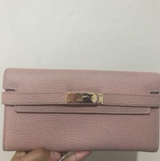 preloved dompet - dusty pink