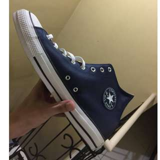 CONVERSE NAVY BLUE LEATHER