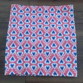 Zara Heart Print Bandage Skirt