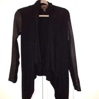 Danier Leather Sleeve Cardigan 2XS