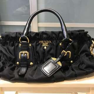 PRADA BN1407 Black Tessuto Gaufre Nylon & Leather