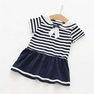 BN Cotton Sailors Dress 3/4T