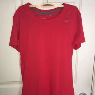 NIKE DRI-FIT red top