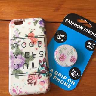 iPhone case and pop socket duo