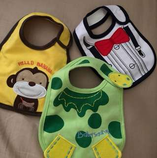 Set of 3 Carters Baby Bibs