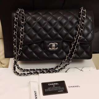 Chanel Classic Flap Bag (Jumbo) Caviar; PHW