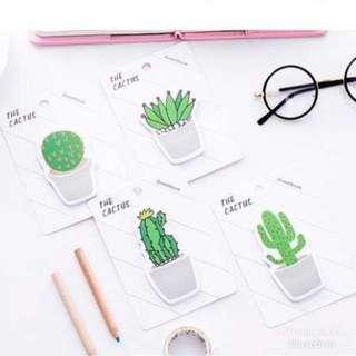 Plant cactus sticky note/ post it