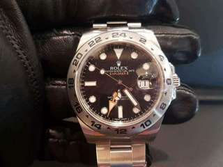 PREOWNED ROLEX Explorer II 216570 , 904L Steel, 42mm. Alphanumeric Series @ Year 2012 Mens Watch