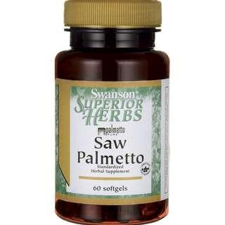 (USGMP) SWH221 Swanson Saw Palmetto 鋸棕櫚草本精華 60粒 320mg