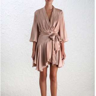 ZIMMERMANN Sueded Robe Dress - Size 2