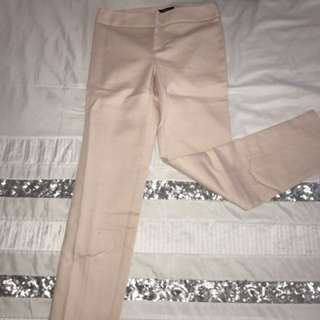 Fitted blush pants
