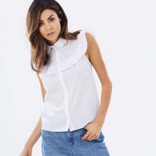 Miss Selfridge ruffle white blouse [12]