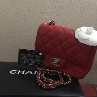 Chanel Square Mini Red