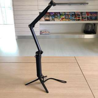 Action Cam Selfie Extendable Collapsible Stick with Built in Tripod Stand