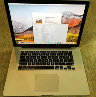 "Macbook pro 15""/16gb ram/ 256 ssd"