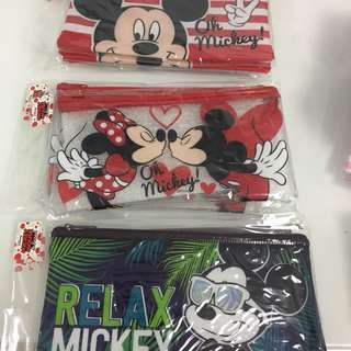 Pencil case- Mickey Mouse and Minnie Mouse